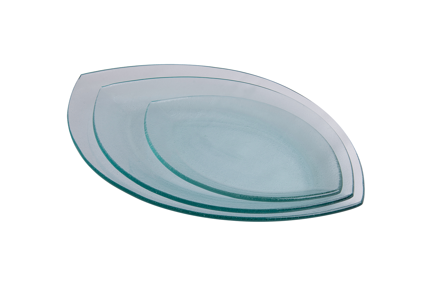 Ellipse Tempered Plate - 42x27 cm